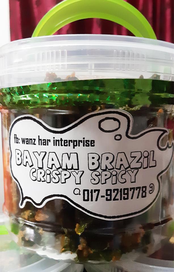 Crispy Peria Berperisa dan Crispy Bayam Brazil Spicy Keluaran Wanz Bites