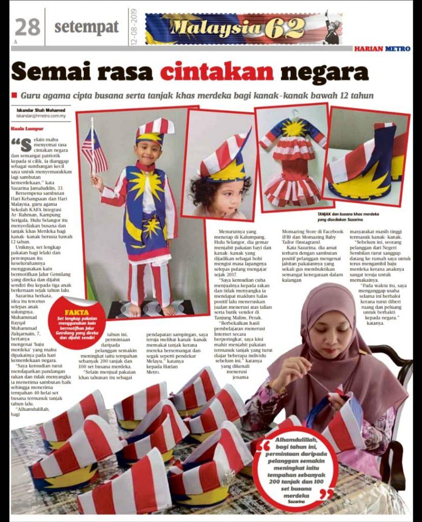 Momazing Tanjak Melayu Asli di Harian Metro