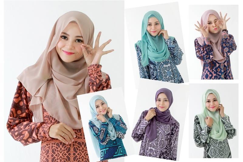 Koleksi tudung Butik Muslimah Fatma Sofea