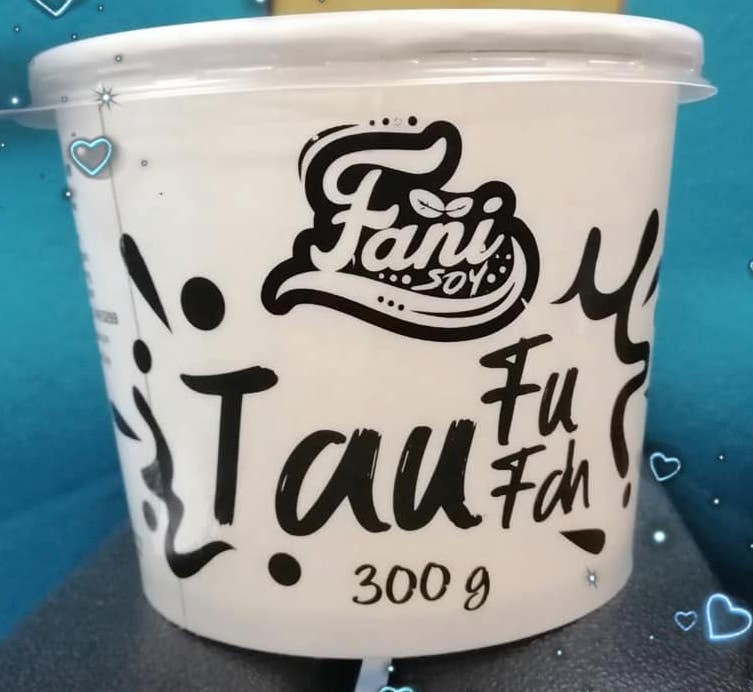 Resepi taufufah air soya menggunakan air soya Fani Soy