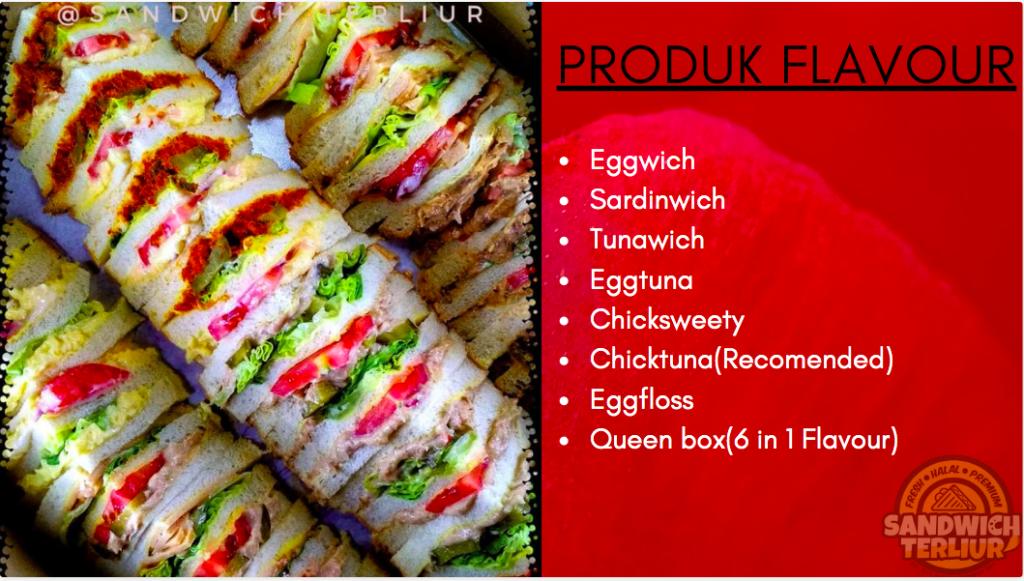 Pelbagai jenis Sandwich terliur pelbagai rasa